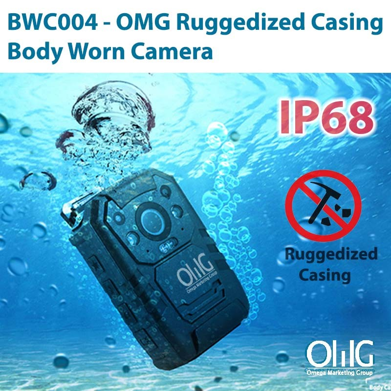 BWC004 - OMG Ruggedized Casing Police Body Worn Camera 800x