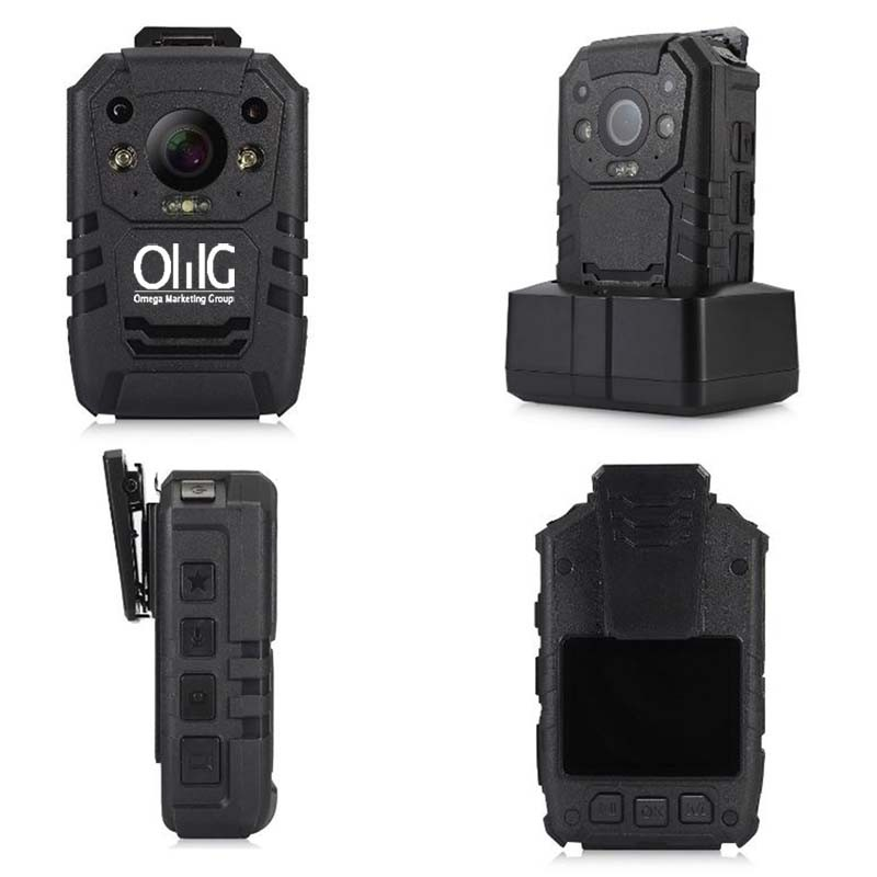 BWC004 - OMG Ruggedized behuizing Politie body gedragen camera - Multi View