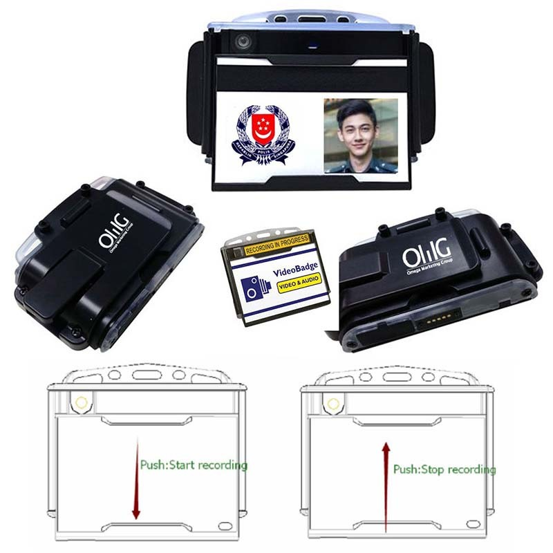 BWC041 - OMG Badge Body Worn Camera - Multi View