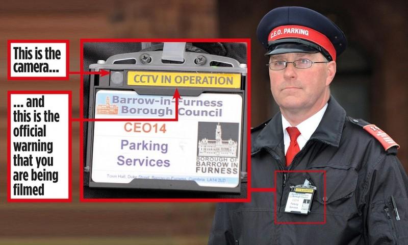 BWC041 - Politiets badge Body Slidt kamera - Sådan mærkes badge