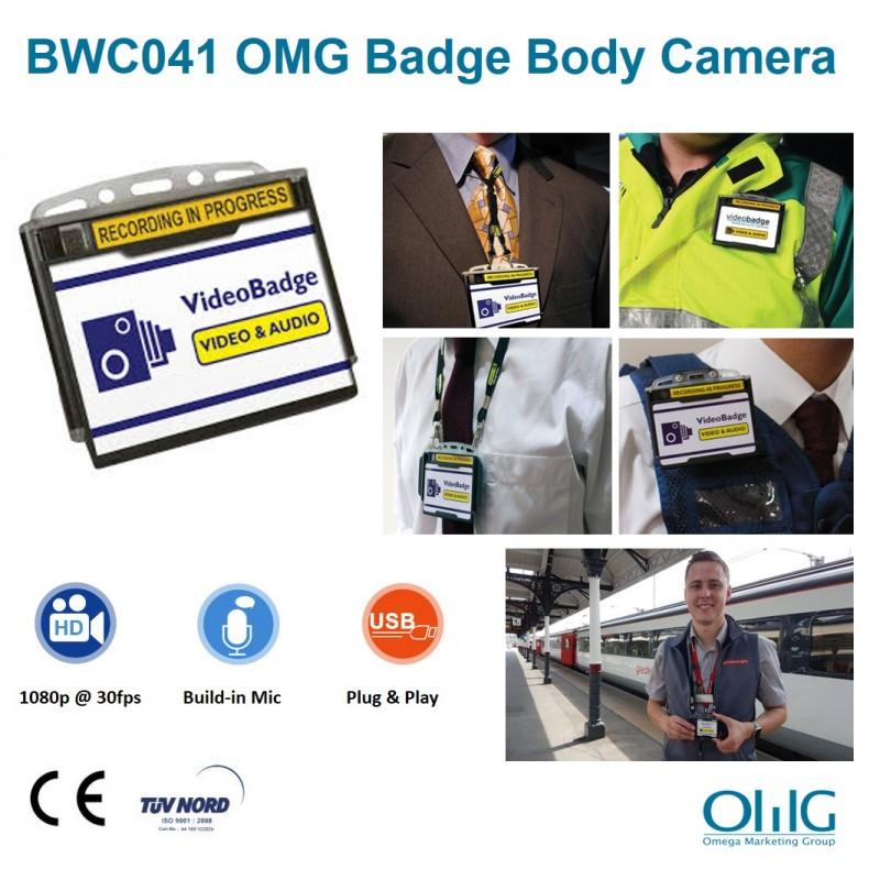 BWC041 - Police Badge Body Worn Camera