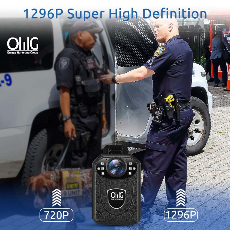 BWC055 – Mini Body Worn Camera with Removable SD Card - 1296p Super High Definition