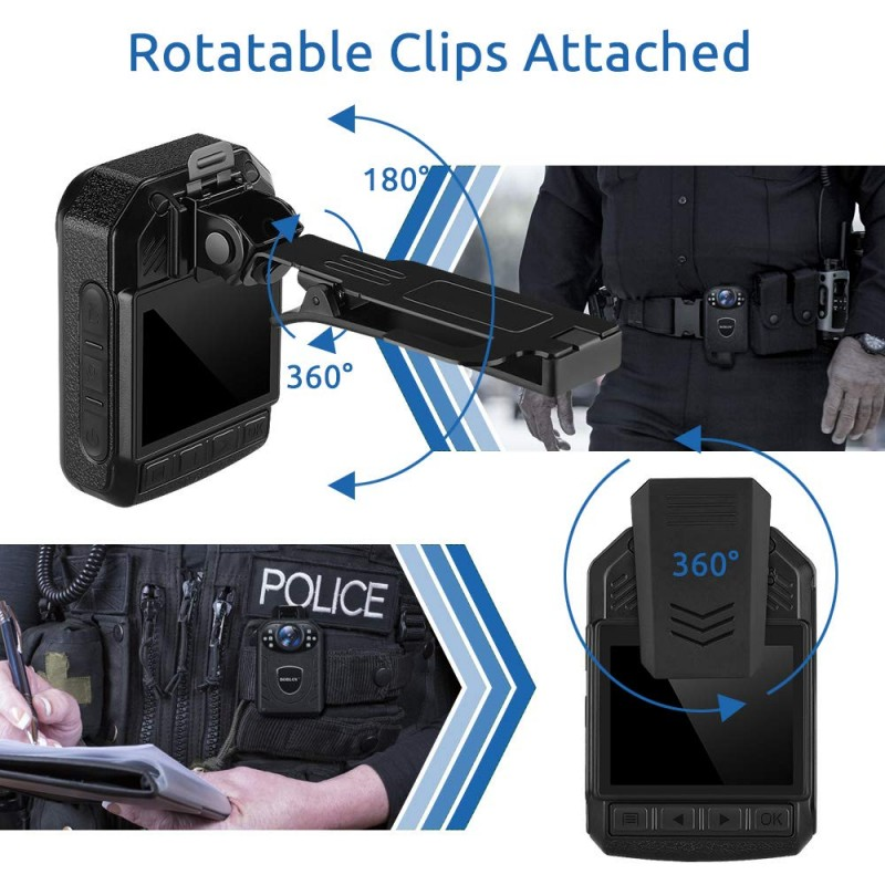 BWC055 – Mini Body Worn Camera with Removable SD Card - IR Night Vision - Rotatable Clip Attached