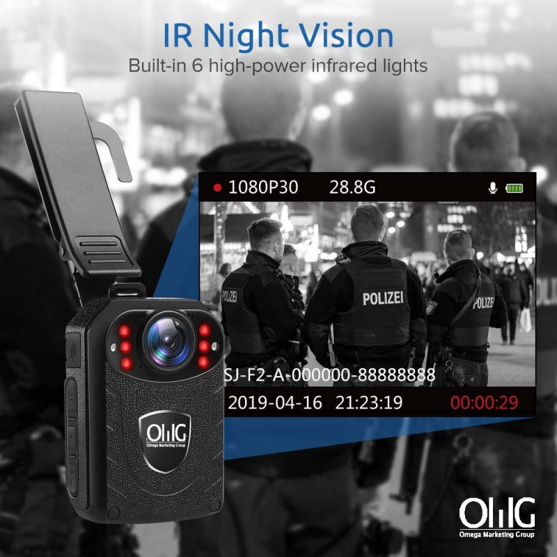 BWC055 – Mini Body Worn Camera with Removable SD Card - IR Night Vision