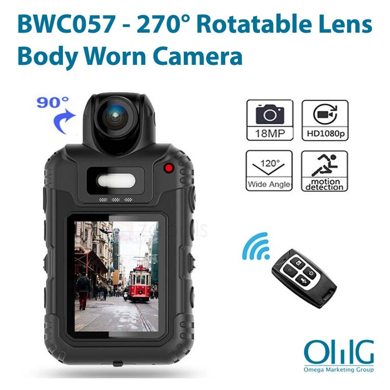 BWC057 - 270 Degree Rotatable lens Body Worn Camera - Main Page
