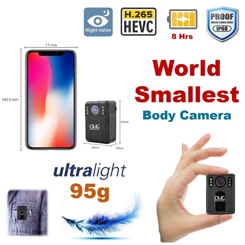 BWC075 - OMG World Smallest Mini Police Body Versleten camera v2-0