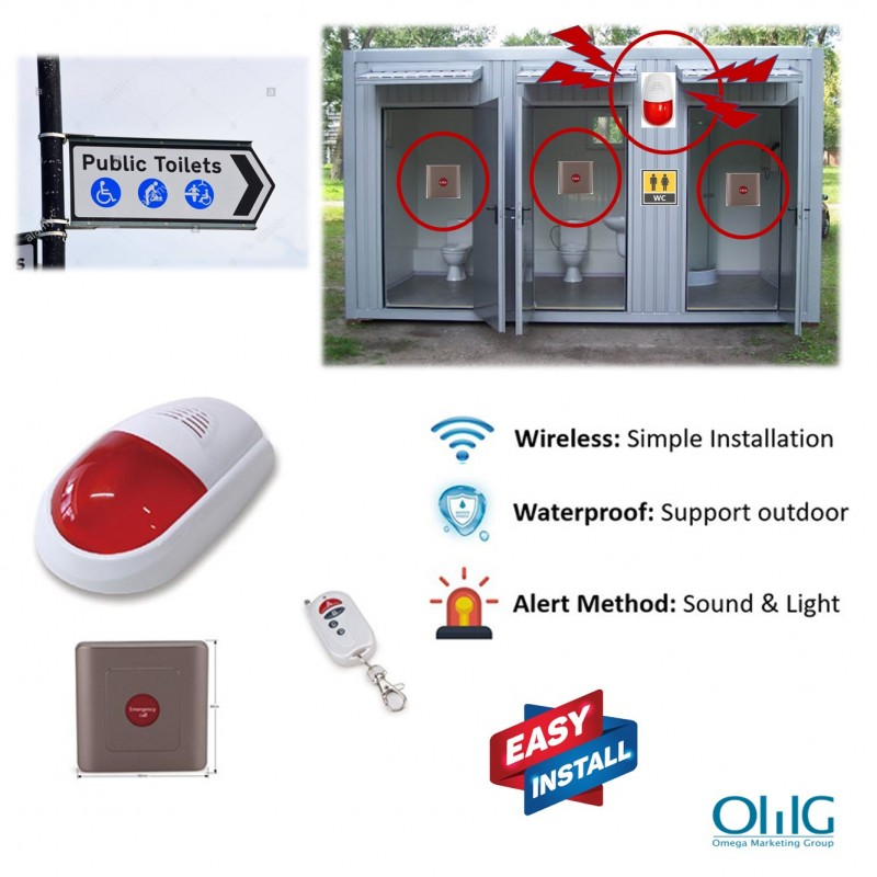 EA018 – OMG Wireless Waterproof Public Toilets Alarm (Sound & Light) - Main Page