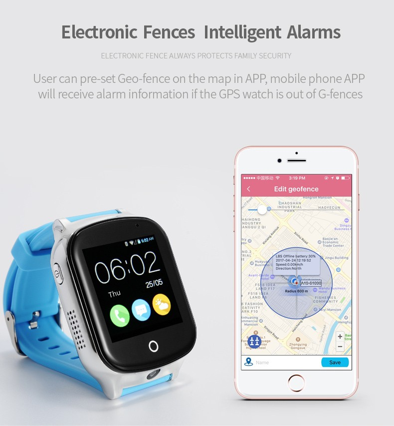 GPS020W - Best GPS Tracker Watch for Autism Autistic Kids Special Needs Child - GPS Geo-fence