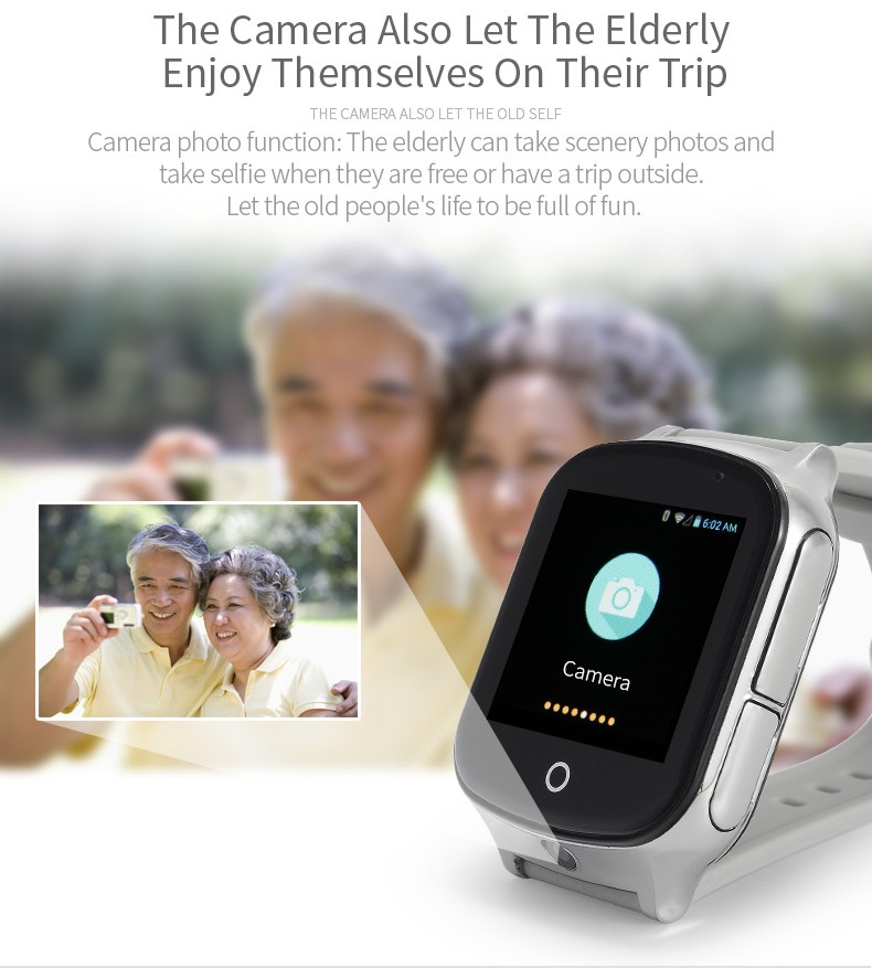 GPS020W - GPS Tracker Watch for Alzheimer Dementia Elderly Patients - Camera