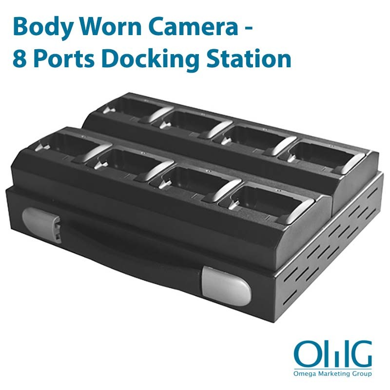 Lichaam versleten camera - 8-poorten docking station (BWC036)