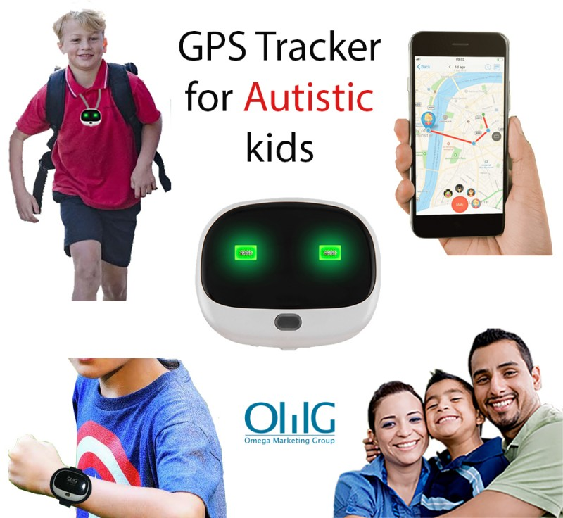 GPS037D – OMG GPS Anti-Lost Tracker Pendant for Autism / Autistic Kids / Special Needs Child