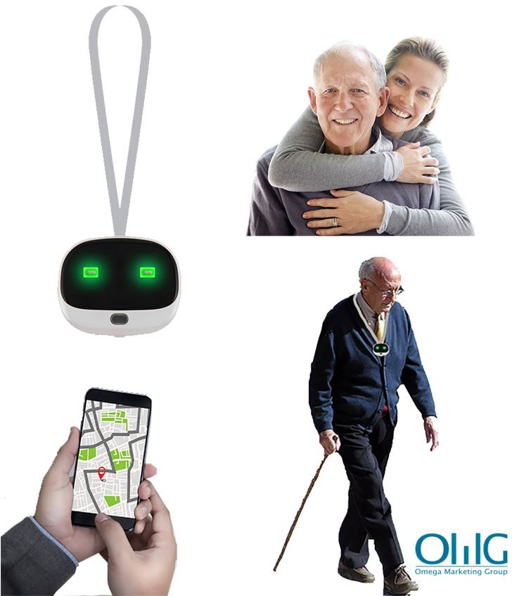 GPS037D - OMG Mini Anti-Lost Personal GPS Tracker for Elderly with Dementia