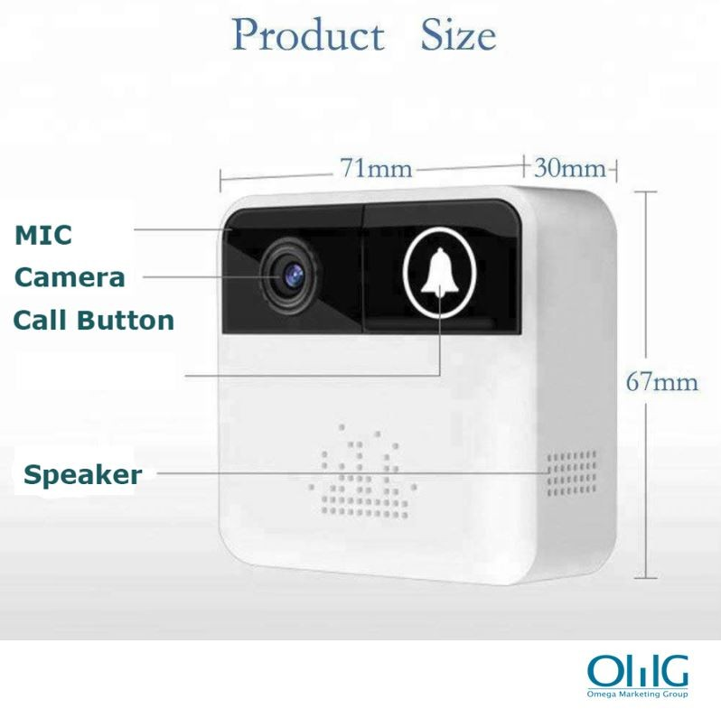 EA067 - Emergency SOS Call Panic Button with Wifi Camera and Intercom Function - Product Size 02