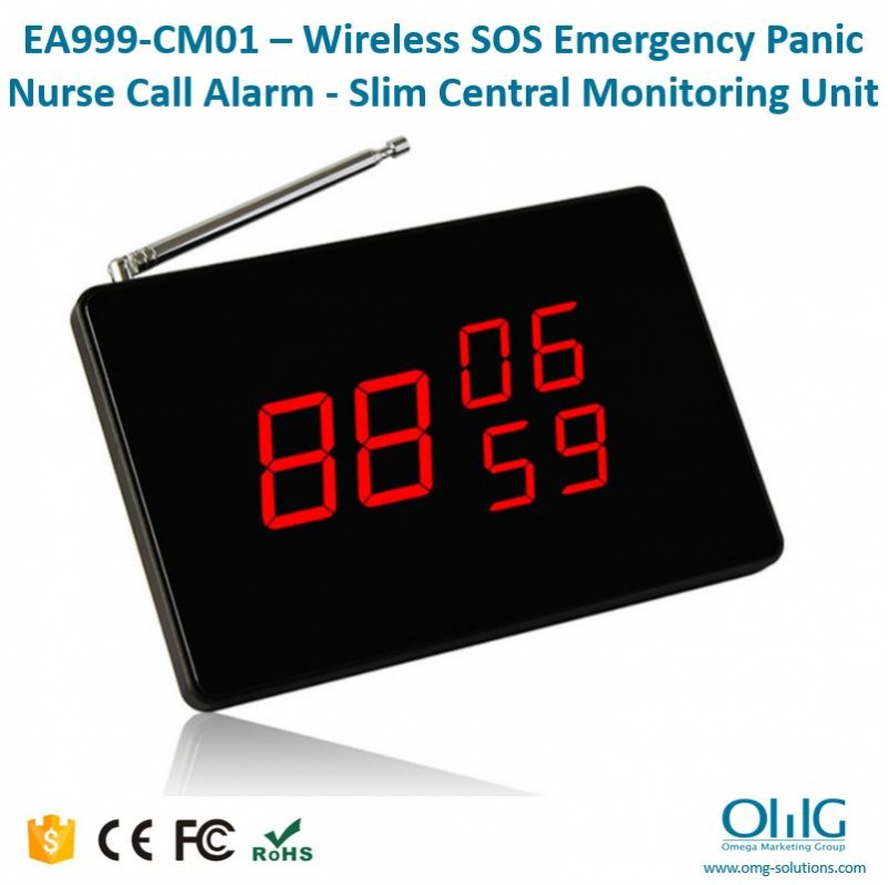EA999-CM01 – Wireless SOS Emergency Panic Nurse Call Alarm - Slim Central Monitoring Unit
