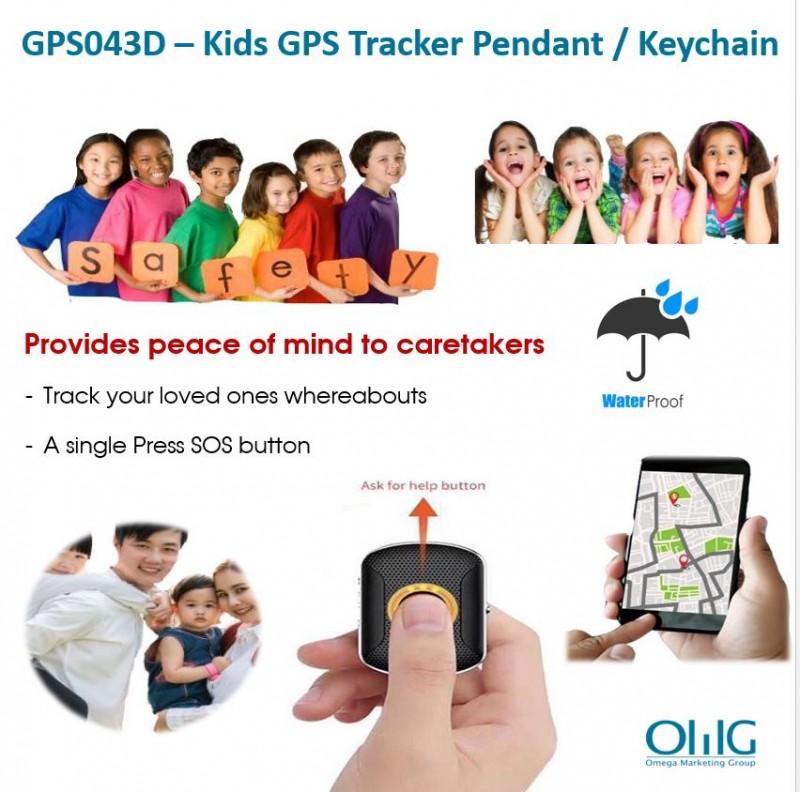 GPS043D - GPS Tracker vedhæng til autisme autistiske børn / børn med specielle behov