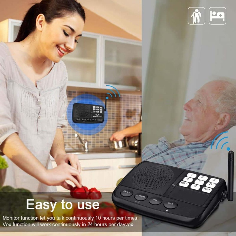 IC002 Wireless Intercom System – Home & Office - For Elderly