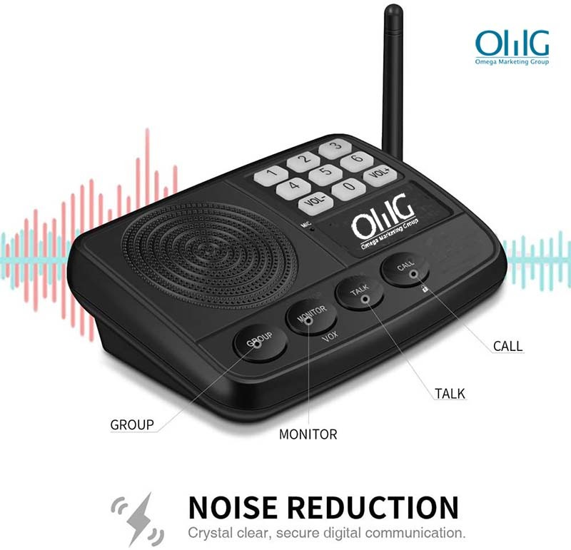 IC002 Wireless Intercom System – Home & Office - Noise Reduction