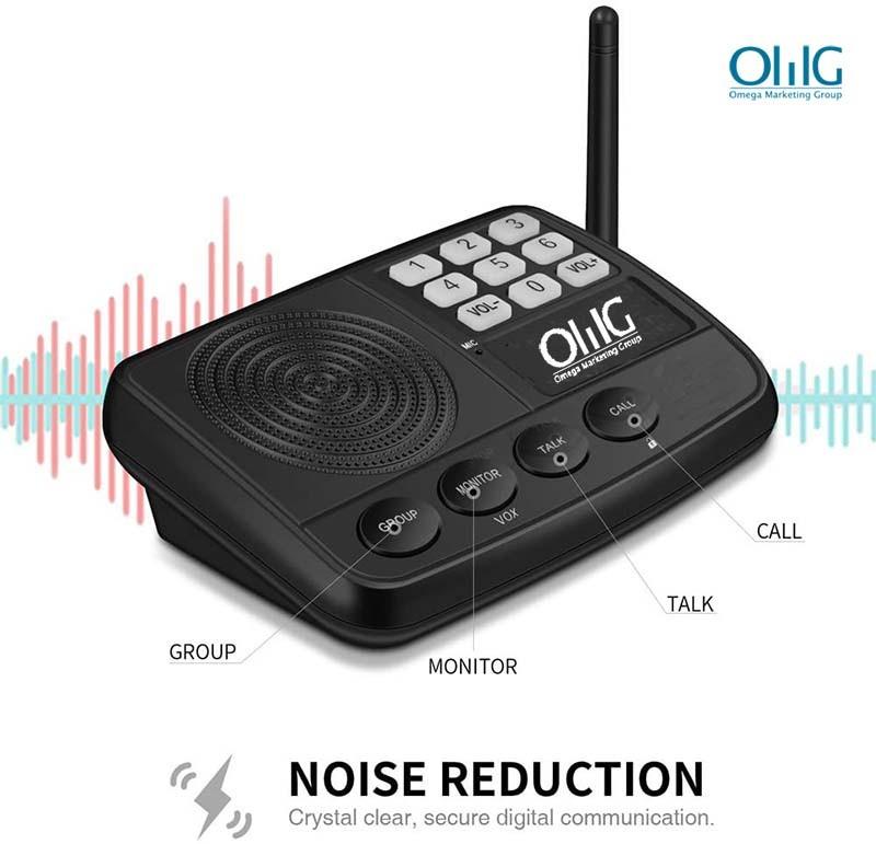 IC002 bezvadu domofonu sistēma - mājās un birojā - trokšņa samazināšana