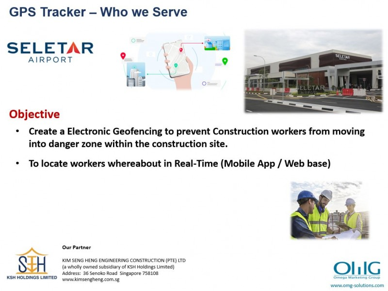 GPS Tracker – Seletar Base - Geofencing for Workers Safety