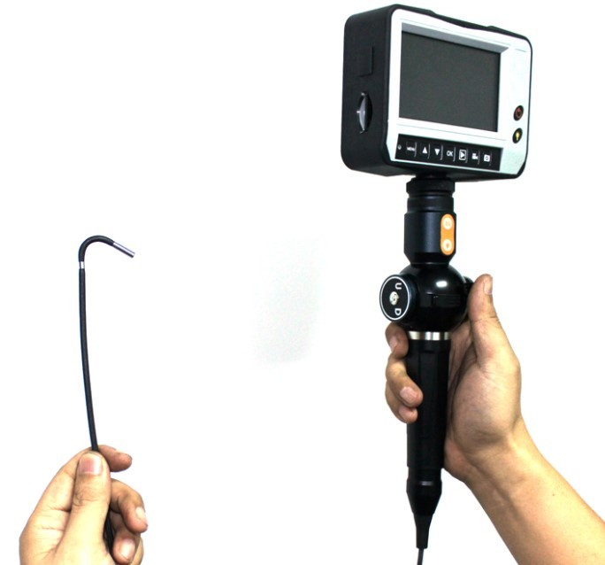 END010 - Portable Industry Endoscope Video Scope with 4-way tip articulations,more than 150deg, probe lens can rotate 360deg