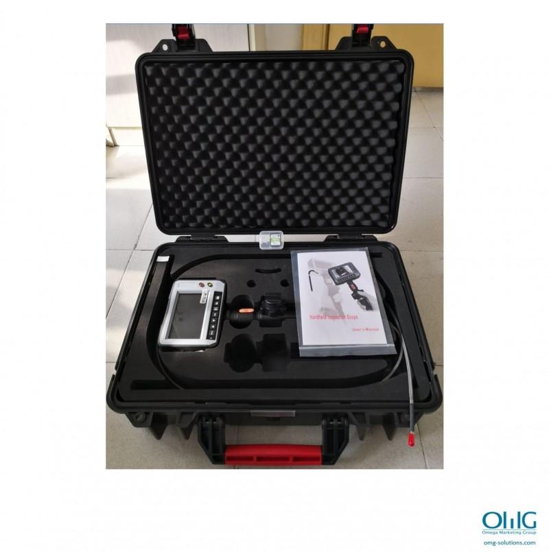 OMGEND011 - OMGEND2 - Портативний відеоохоплюючий ендоскоп промисловості з артикуляціями наконечника 150, більше ніж на Deg 360, об'єктив зонда може обертати 03 Deg XNUMX