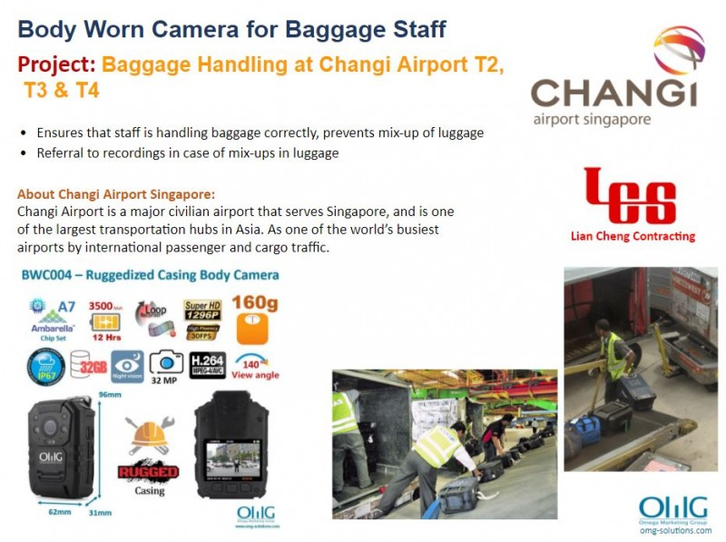 Body Camera Project - Changi Airport Singapore - Baggage Handling at Changi Airport T2, T3 & T4 - OMG Solutions