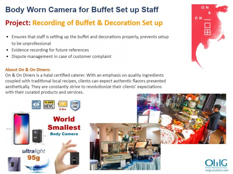 Body Camera Project - On & On - Monitoring of Buffet & Decoration Set Up - OMG Solutions