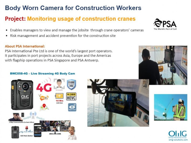 Body Camera Project - PSA - Monitoring usage of construction cranes - OMG Solution