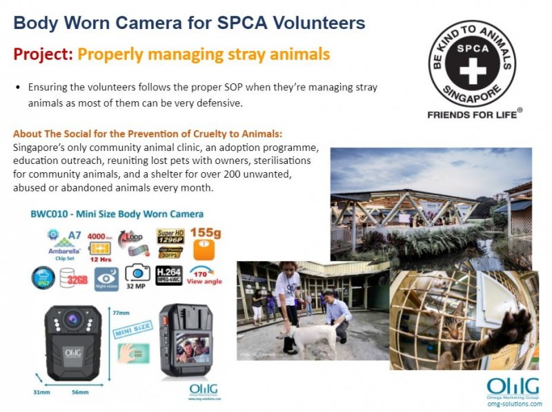 Body Camera Project - SPCA - Process of saving a stray animal - OMG Solutions