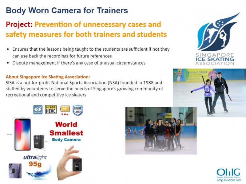 Body Camera Project - Singapore Ice Skating Association - Training activities for new students - OMG Solutions