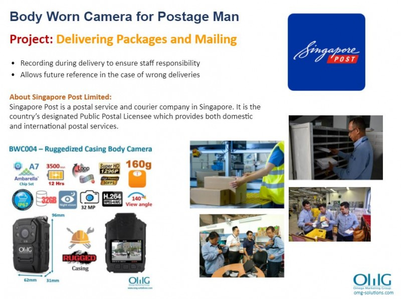 Body Camera Project - Singapore Post Limited - Delivering Packages and Mailing - OMG Solutions