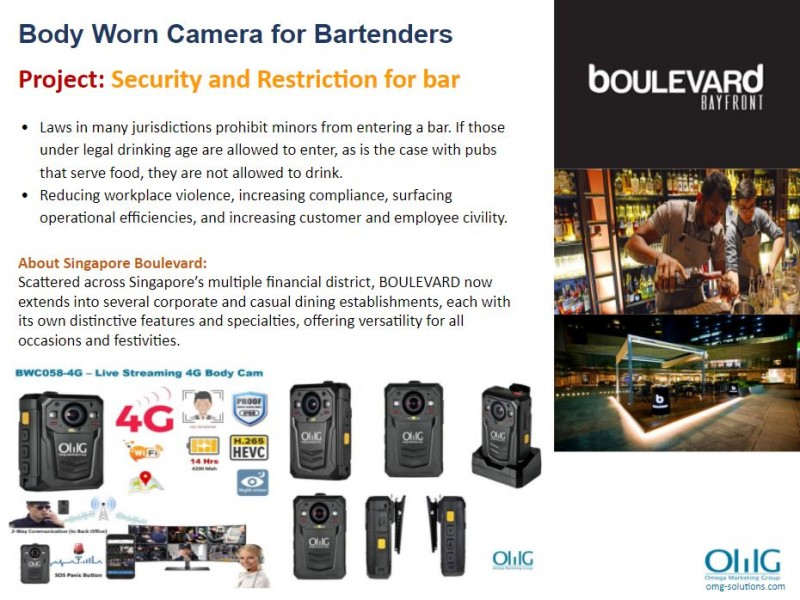 Body Camera Project - boulevard - Security and Restriction for bar - OMG Solutions