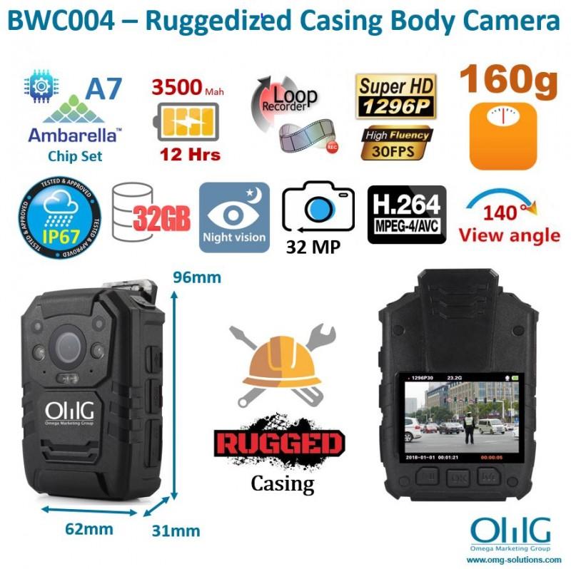 BWC004 – Ruggedized Casing Body Camera