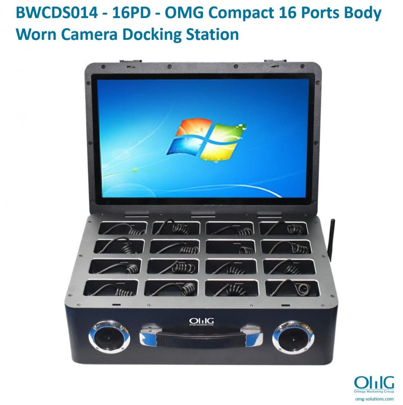 BWCDS014 - 16PD - OMG Compact 16 Ports BWC Docking Station - Front View