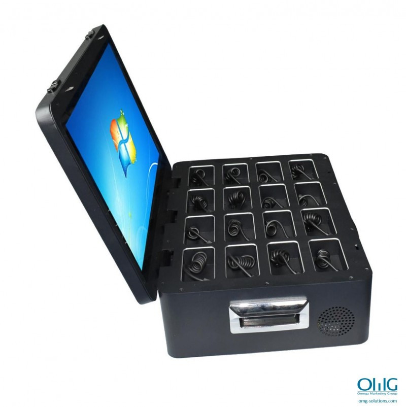BWCDS014 - 16PD - OMG Compact 16 Ports BWC Docking Station - Side View