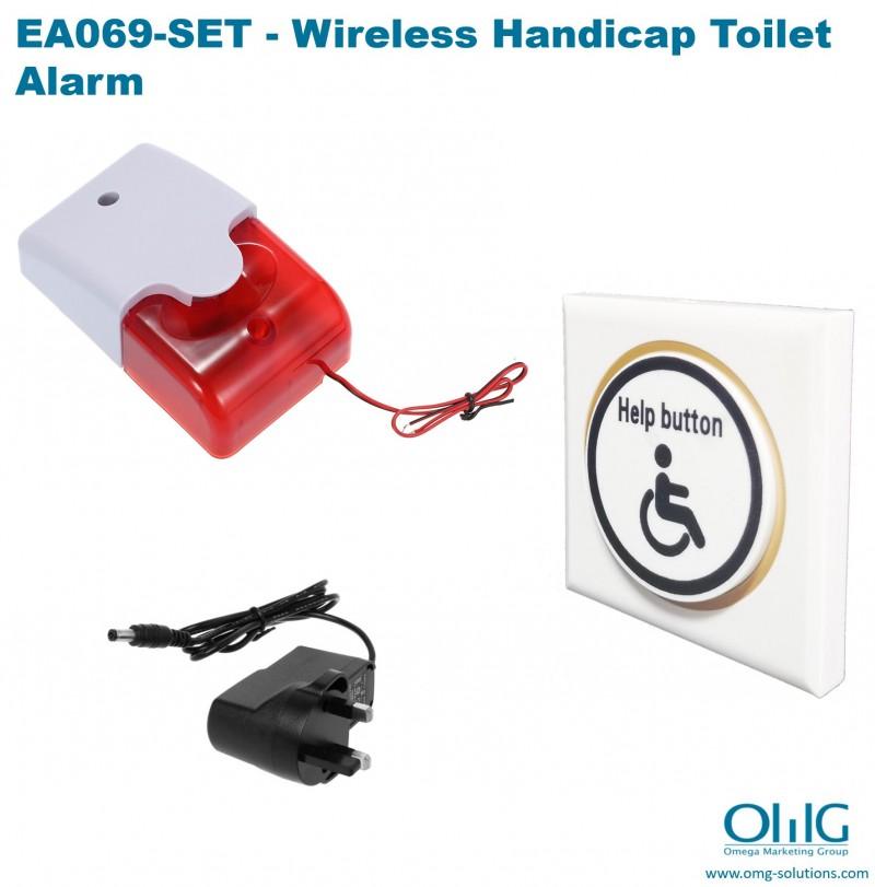 EA069-SET - Wireless Handicap Toilet Alarm