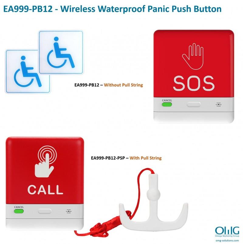 EA999-PB12, EA999-PB12-PS - Wireless Waterproof Panic Push Button