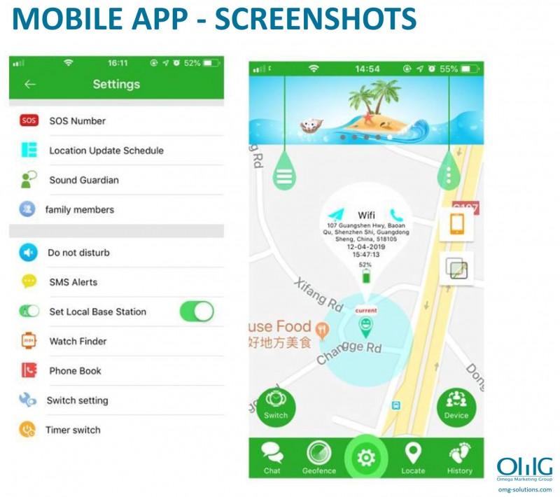 GPS033W - Waterproof GPS Whatsapp Video Call Kids Watch - Mobile App Screenshots
