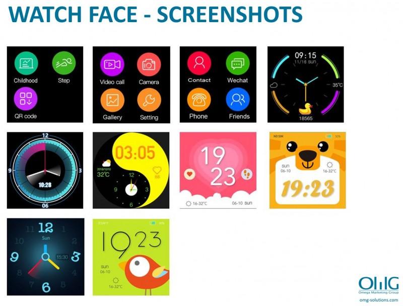 GPS033W - Waterproof GPS Whatsapp Video Call Kids Watch - Watch Face