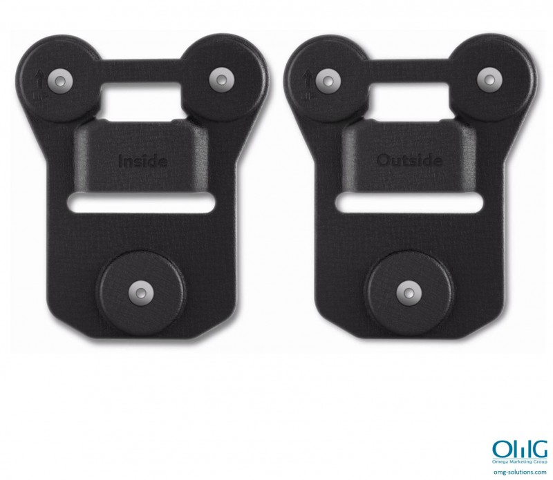 BWA002-MH01 - Body Worn Camera Magnetic Clip Holder - Side by Side Front View