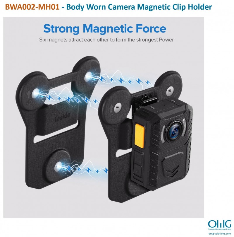 BWA002-MH01 - Body Worn Camera Magnetic Clip Holder