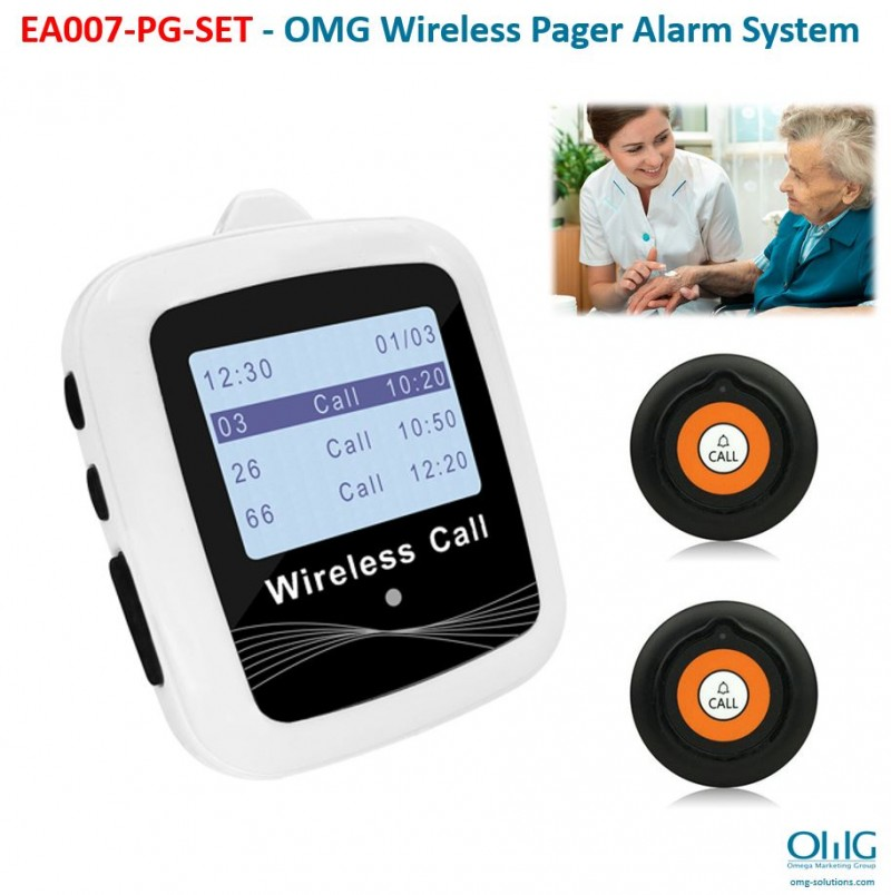 EA007-PG - OMG Wireless Pager Alarm System - Main Page v3