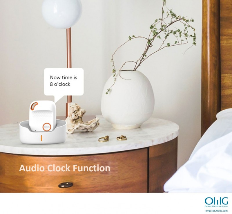 GPS056D - OMG Panic Button SOS Emergency GPS Tracker for Elderly with Dementia - Audio Clock