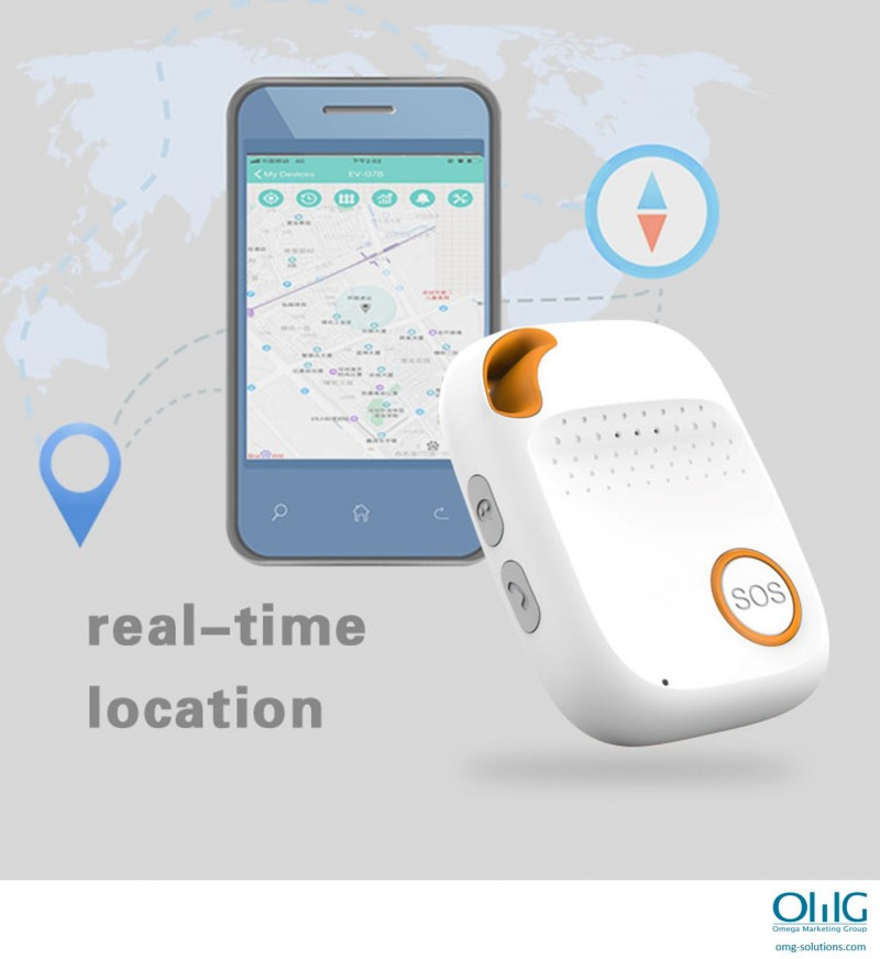 GPS056D - OMG Panic Button SOS Emergency GPS Tracker for Elderly with Dementia - GPS Tracking v2
