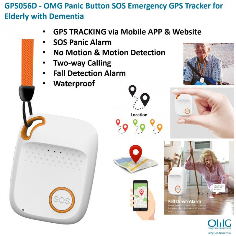 GPS056D - OMG Panic Button SOS Emergency GPS Tracker for Elderly with Dementia - Main Page