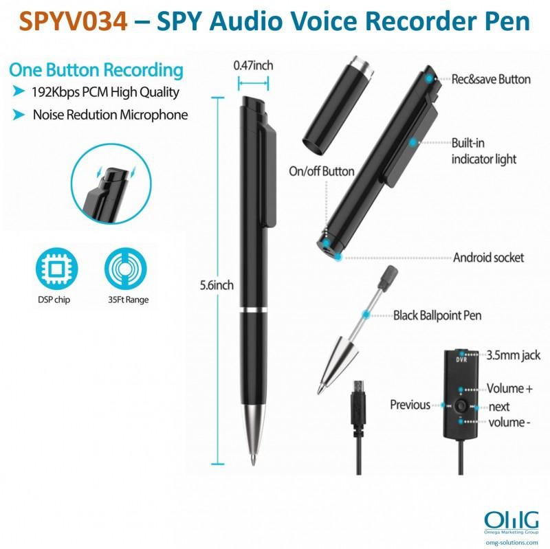 SPYV034 – SPY Audio Voice Recorder Pen - Main v2-0