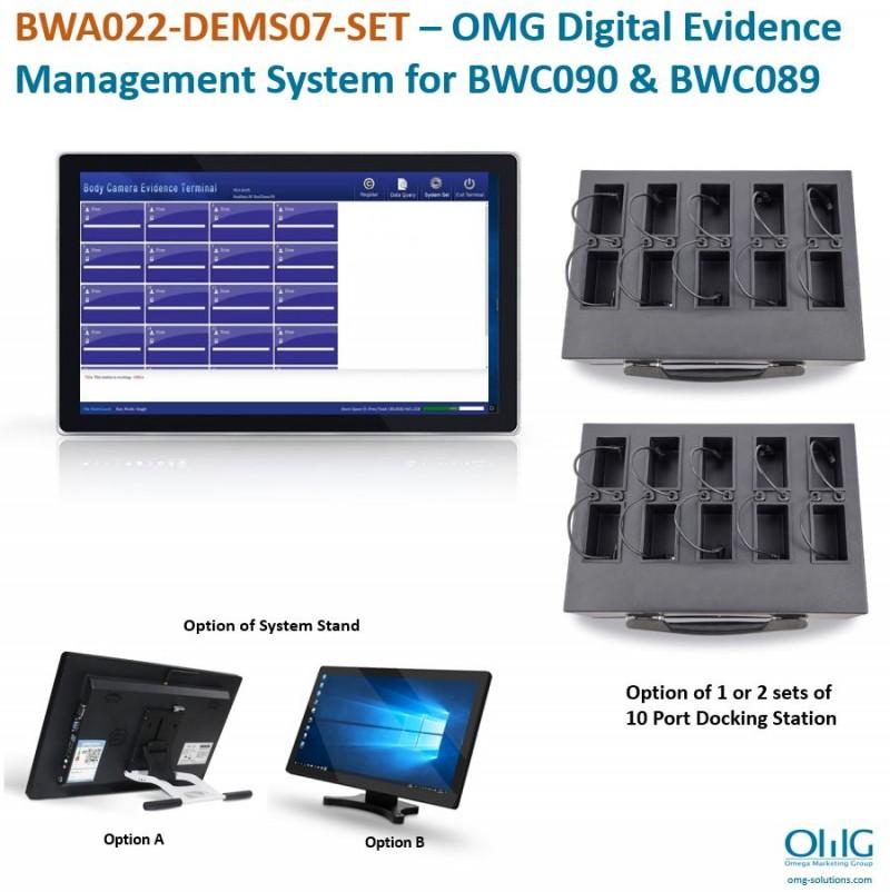 BWA022-DEMS07-SET – OMG Digital Evidence Management System for BWC090 & BWC089 v2