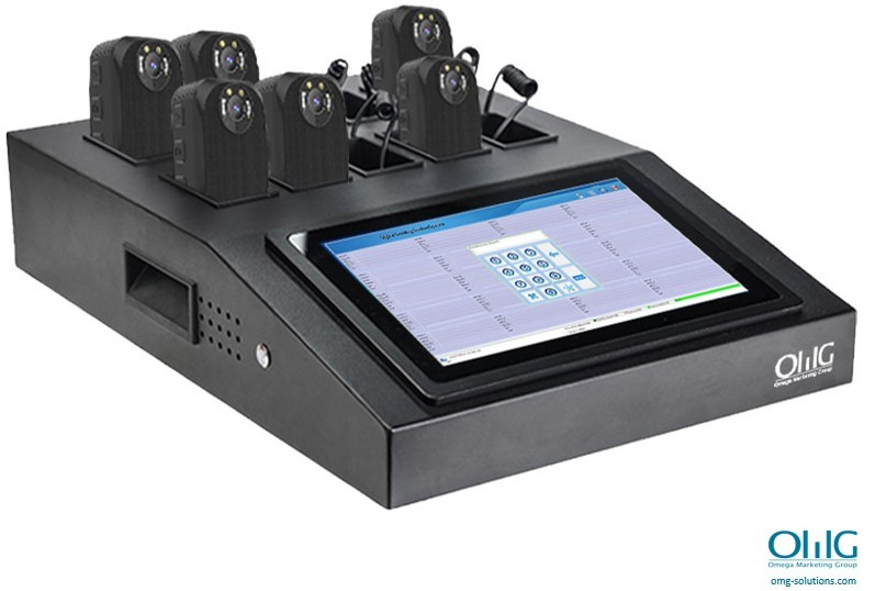 BWA011-DS023-LT-10PD - Touch Screen 10 Port Docking Digital Evidence Management System