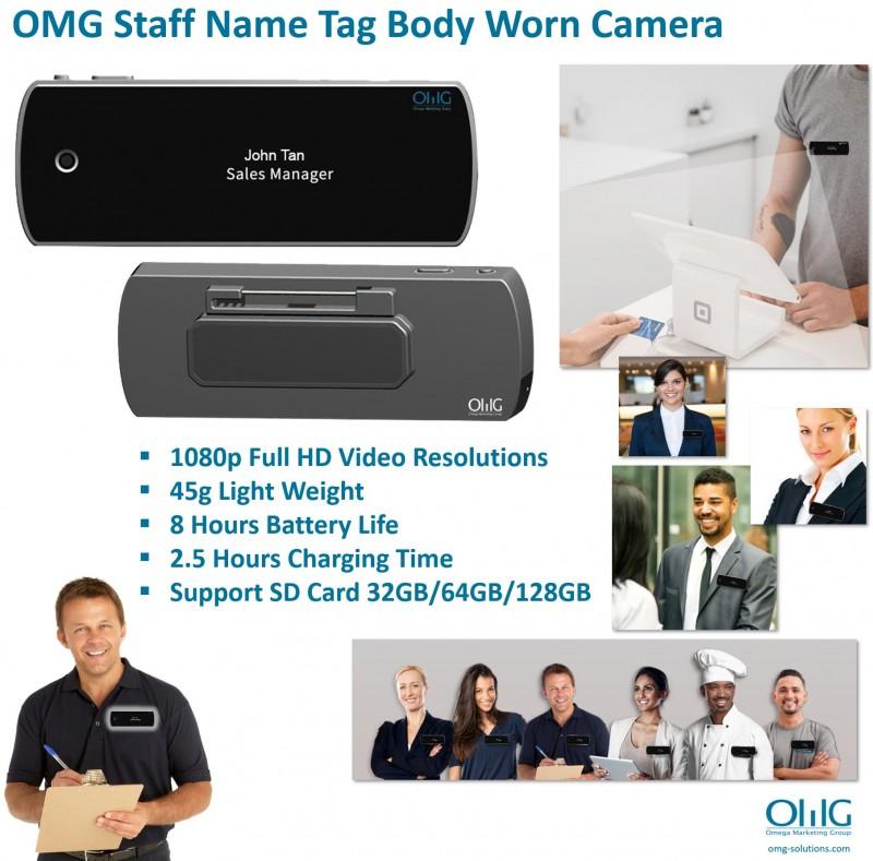 BWC115 - OMG Staff Name Tag Body Worn Camera v2