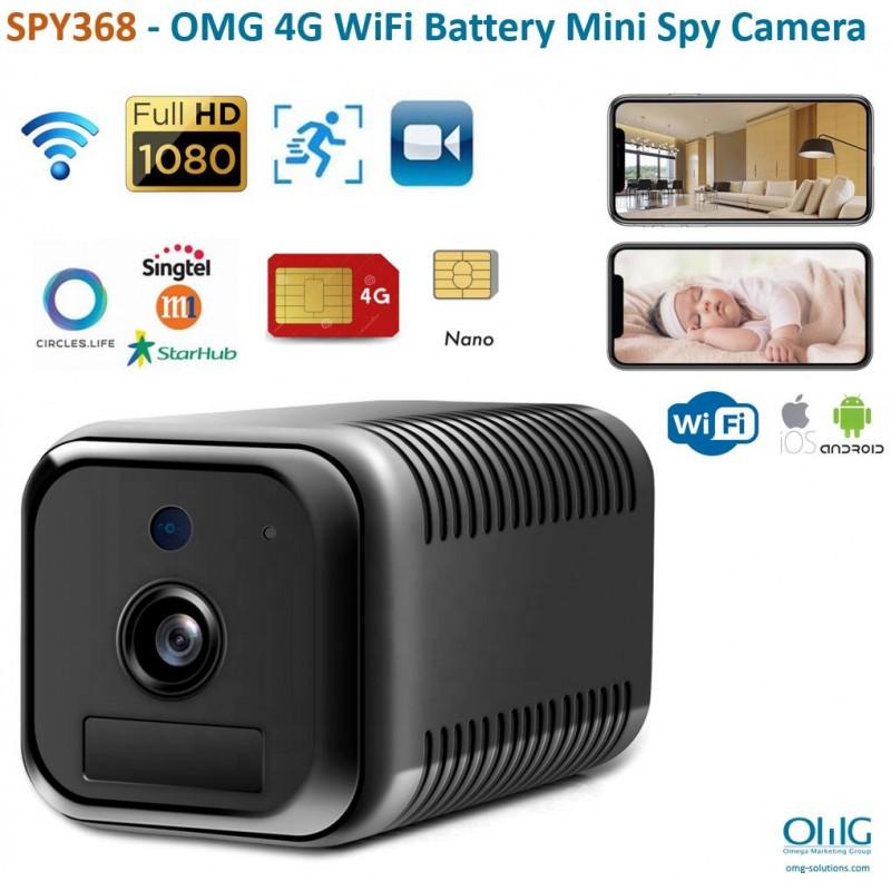 SPY368 - OMG 4G WiFi Battery Mini Spy Camera